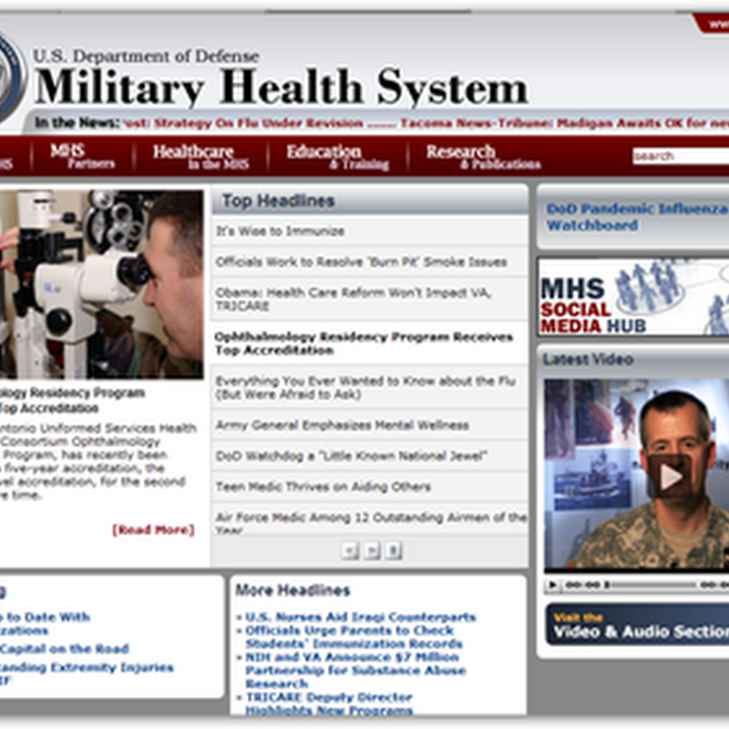 Military Health System Website – US Department of Defense