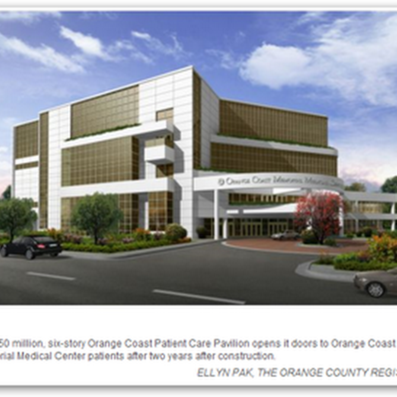 Orange Coast Memorial Medical Center State of the Art Outpatient Facility Opens in Fountain Valley, CA