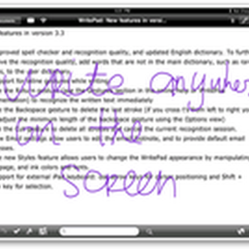 Handwriting Software with WritePad for iPad 4.2–Good for Taking Notes