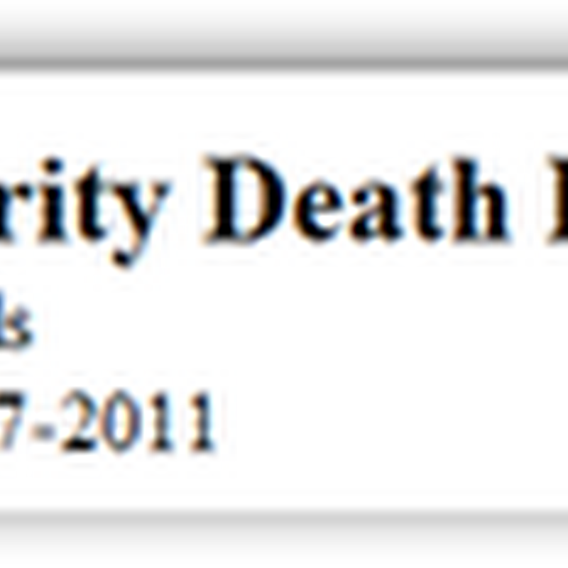 Social Security Master Death Index Data Flawed–Over 31,000 Living Found in the Index