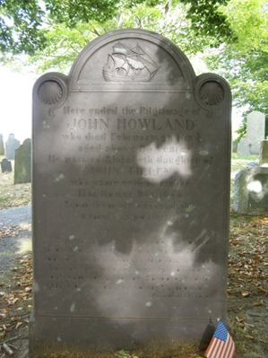 John Howland's Memorial Headstone