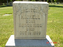 Chester Kise Haskell's Grave Site