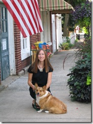 Chloe and me in downtown Matthews