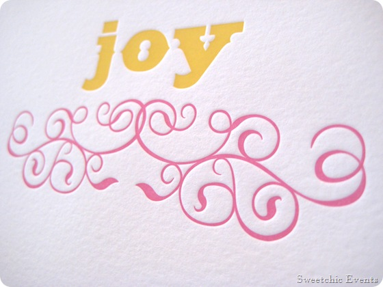Ruby Press Joy Cards Sweetchic Events