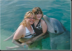 Mom, Isabelle, Dolphin Feb 2011