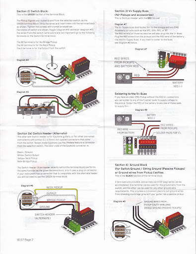 Emg Pickup Buss Diagram on emg solderless wiring diagram