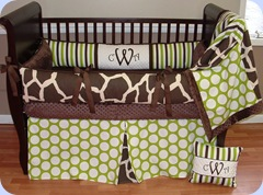 Sweet Pea Giraffe bedding