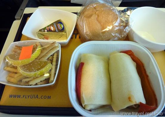 Завтрак на борту МАУ 18.02.2011