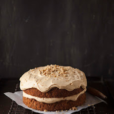 Apple And Banana Cake With Caramel Cream Cheese Frosting
