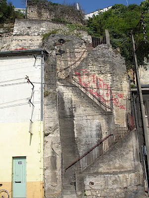 cliffside staircase in Poitiers