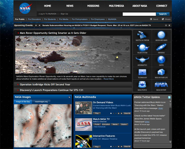 сайт NASA