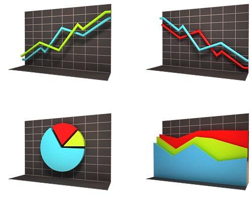 иконки графики диаграммы