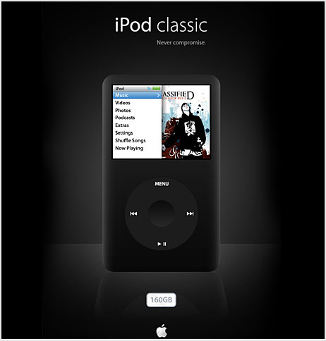 ipod classic psd фотошоп