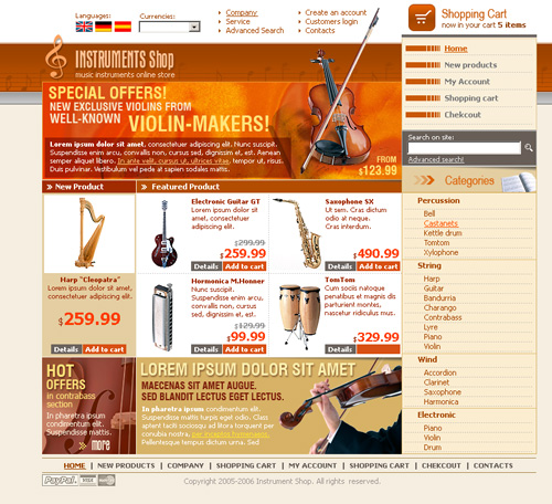 oscommerce free template