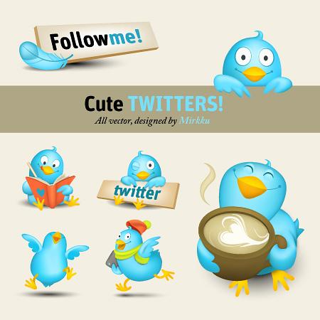 иконки твиттер