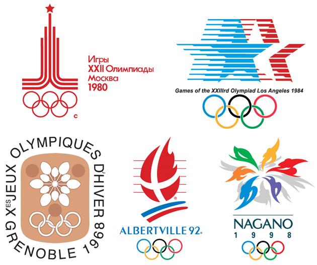 олимпийские игры логотипы