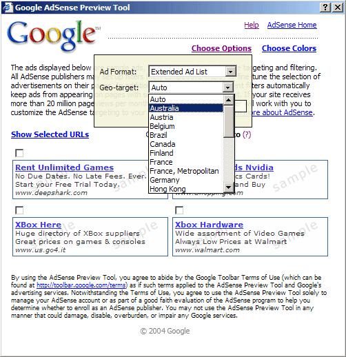 инструмент предварительного просмотра объявлений AdSense