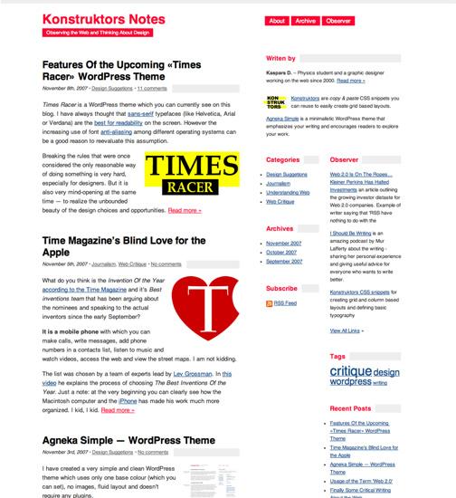 минималистическая тема wordpress