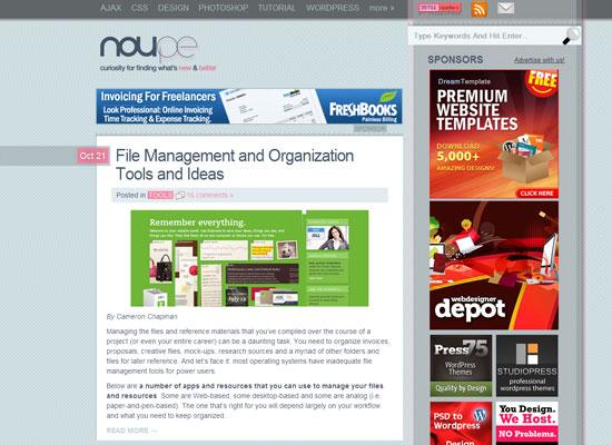 дизайнерский блог Noupe