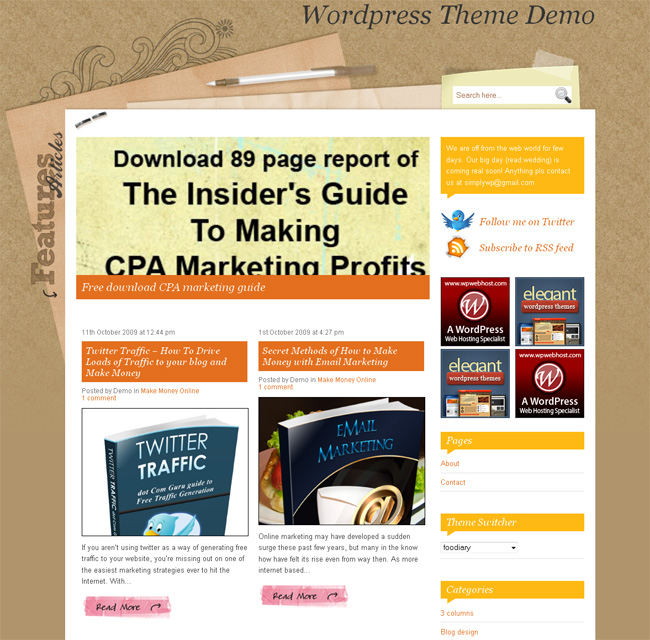 Download wordpress themes