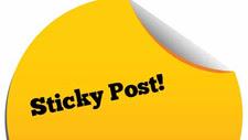 sticky post
