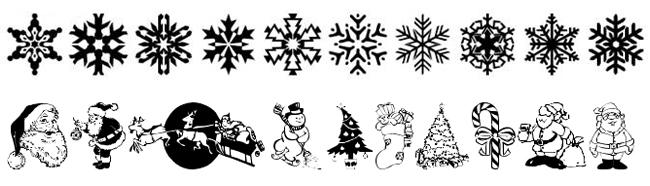 рождественские шрифты