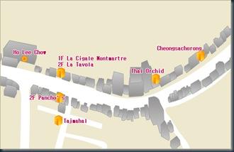 Restaurant Map of Itaewan