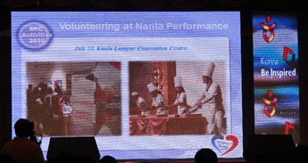 Volunteering at Nanta Performance