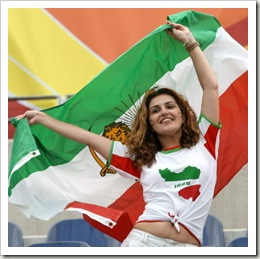 Iranian hotty with flag