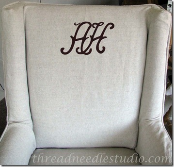 hewitt monogram wing chair