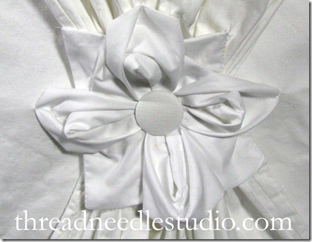 white drape slipcover  detail