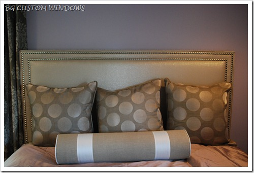 Headboard with nailheads