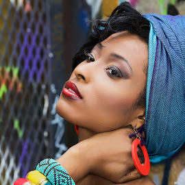 African Head Wrap by Monika Schaible - People Fashion