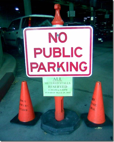 No Public parking at public event