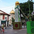 Arab Street ja Sulttaanin moskeija Kampong Glamissa tai Arabikortteleilla (turisti-ilmaisu)