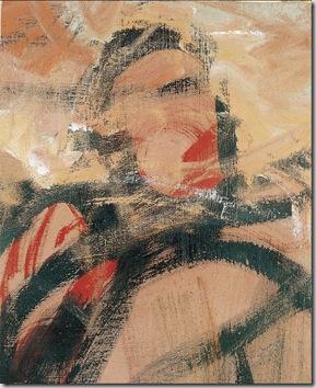 Il guerriero, olio su tela, cm 50x70, 1968