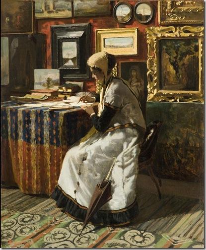 Telemaco Signorini, Non potendo aspettare, 1867. Milano, Fondazione Cariplo