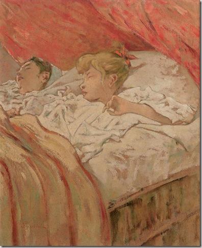 Telemaco Signorini, Bambini colti nel sonno, 1890-1896. Collezione privata