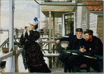 James Tissot-La figlia del capitano -L'ultima sera , 1873 Olio su tela,  Southampton City Art Gallery