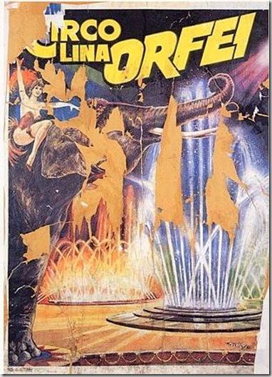 Mimmo Rotella, Circo Orfei, 1963, décollage applicato su tela, cm 50x32,5