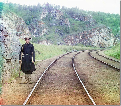 Bashkir switchman; 1910 Sergei Mikhailovich Prokudin-Gorskii Collection (Library of Congress).