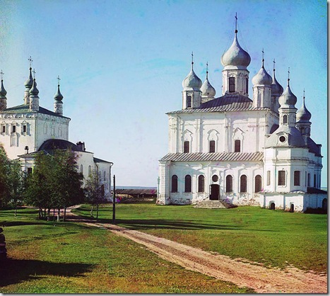 Assumption Cathedral in the Goritskii Monastery, near Pereiaslavl-Zalesskii; 1911 Sergei Mikhailovich Prokudin-Gorskii Collection (Library of Congress).