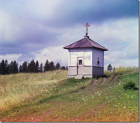 Chapel on Olga hill, Russian Empire; 1909 Sergei Mikhailovich Prokudin-Gorskii Collection (Library of Congress).