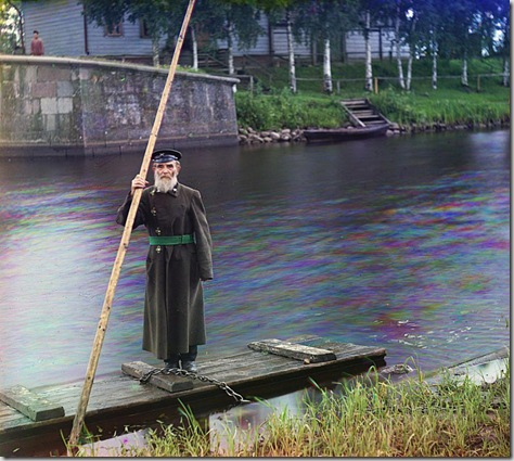 Pinkhus Karlinskii, eighty-four years. Sixty-six years of service. Supervisor of Chernigov floodgate, Russian Empire; 1909 Sergei Mikhailovich Prokudin-Gorskii Collection (Library of Congress).