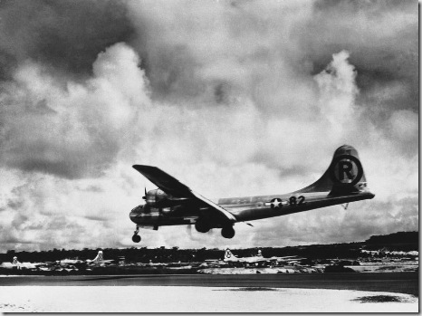 clip image002 thumb%5B2%5D The B 29 superfortress Enola Gay lands at its Tinian base after its atomic ...