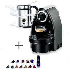 Essenza Espresso Machine in Titan Gray-Aeroccino In-Pack