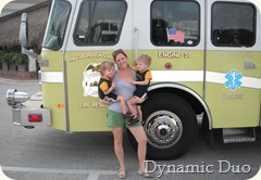 firetruck momma and the boys;)
