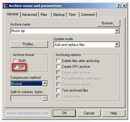 Membuat File Zip Dengan Winrar