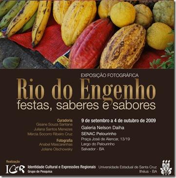 Convite - Rio do Engenho, festas, saberes e sabores 1