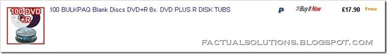 100 Blank DVDs